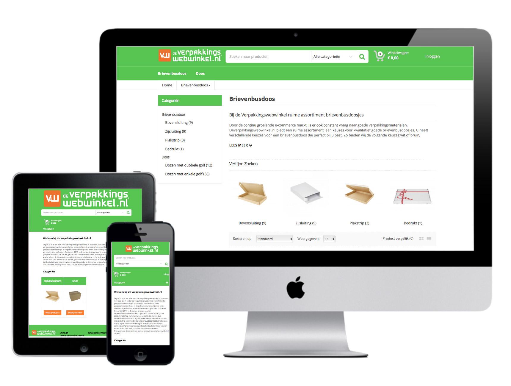 Webshop - De Verpakkingswebwinkel - Waalwijk